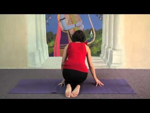 yoga  cow face pose easy variation  cow face pose cow