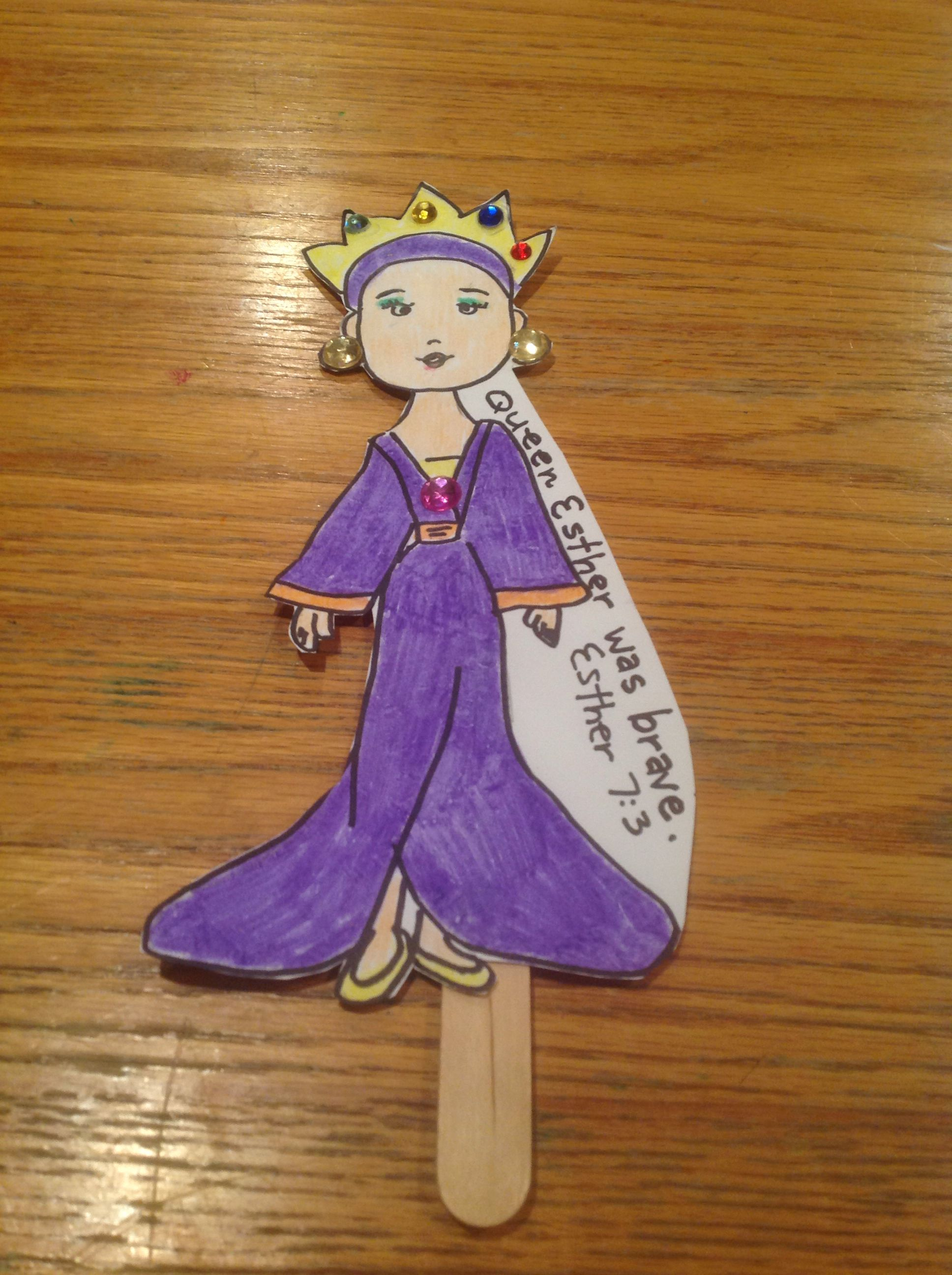 queen esther bible craft by let sunday pinterest