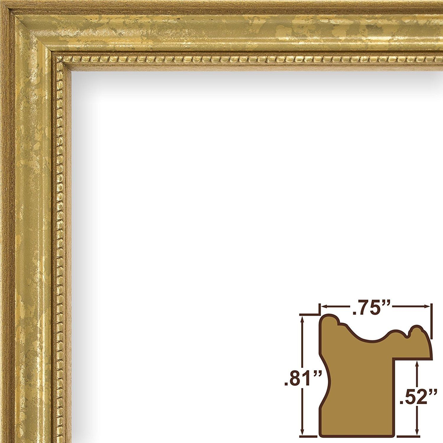 Craig Frames 314GD 23 by 33-Inch Picture Frame, Ornate Finish, .75 ...