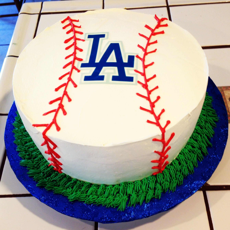 Admirable Dodgers Cake Dodgers Birthday Party Baseball Birthday Party Funny Birthday Cards Online Benoljebrpdamsfinfo
