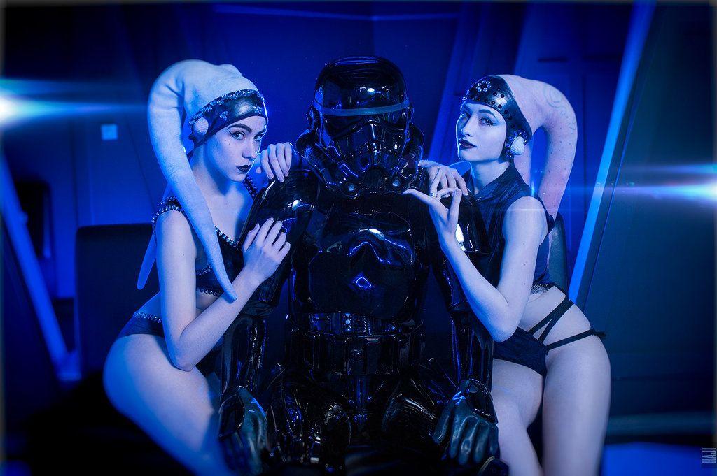 #Cosplay - Twi'lek & Darth Vader by Sallozare on ... Jabba The Hutt Cosplay