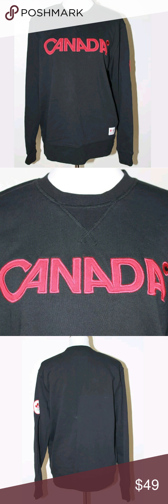 20def699e Vancouver 2010 Winter Olympic Canada Sweatshirt Vancouver 2010 Winter  Olympic Black Canada Sweatshirt New without tags