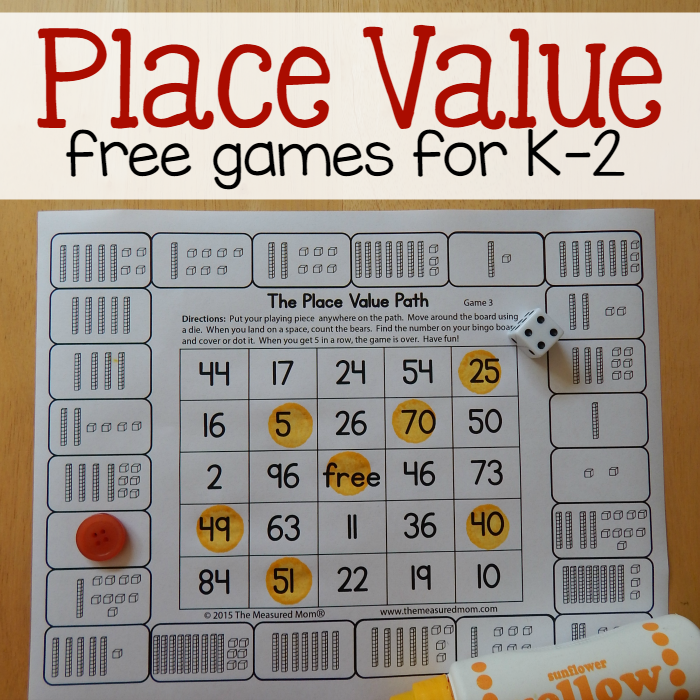 It's just a photo of Vibrant Printable Place Value Game
