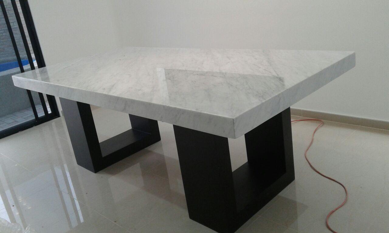 Mesa de m rmol blanco carrara italiano mesas pinterest for Marmol de carrara limpieza