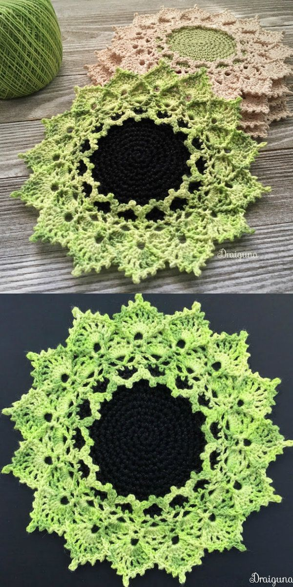 Sunmote Doily Free Crochet Pattern | grafico de crochê | Pinterest ...
