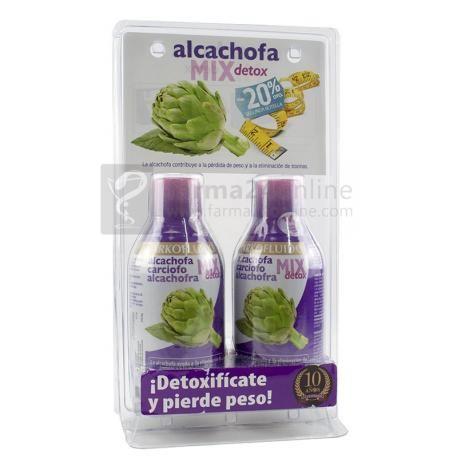 Arkofluído Alcachofa MIX Detox PACK 50% en 2ª Unidad (2x280 ml) Arkofluído Alcachofa MIX Detox PACK 50% en 2ª Unidad Complemento alimenticio a base de alcachofa, té verde, diente de león e hinojo. Combinación perfec