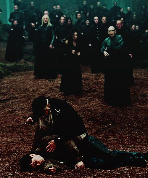 Narcissa Malfoy About To Lie To Voldemort Saying That Harry Is Dead In Order To Protect Her So Harry Potter Love Harry Potter Aesthetic Harry Potter Obsession