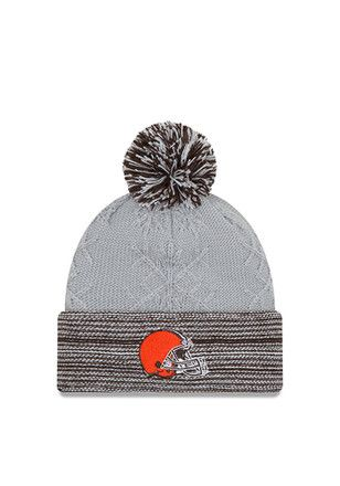 detailed look 817d7 69ebf New Era Cleveland Browns Grey Snow Crown Redux Knit Hat