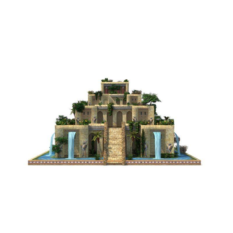 3d Hanging Gardens Babylon Model Hanging Garden Babylon Ancient Babylon