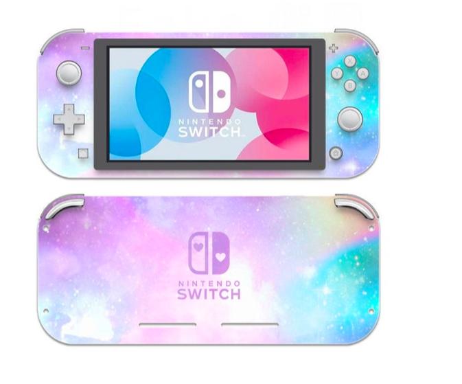 Rainbow Galaxy Nintendo Switch Lite Skin Nintendo Switch Nintendo Rainbow Galaxy