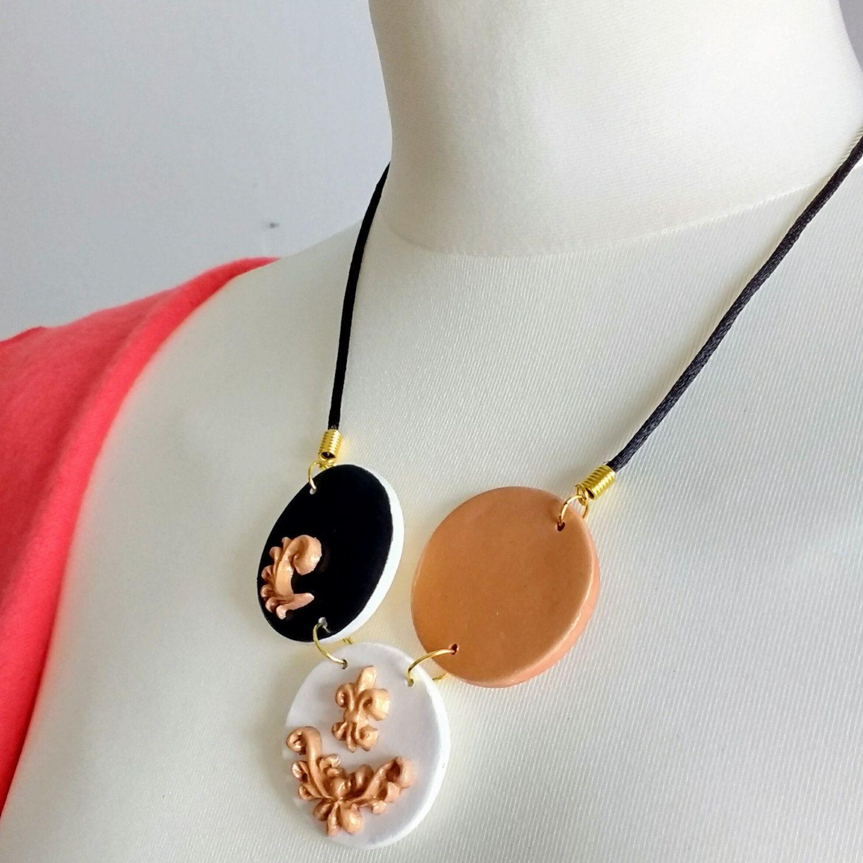 Rosegold Halskette, Rosegold Halskette, Halskette Rosegold, Halskette Tricolor, Halskette Schwarz, Geschenk für sie, Hochzeit Schmuck von KleineUngarin auf Etsy