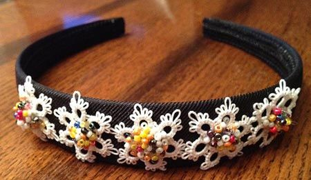 Free Tatting Patterns, Instructions, Tips at Be-stitched.com tatted headband