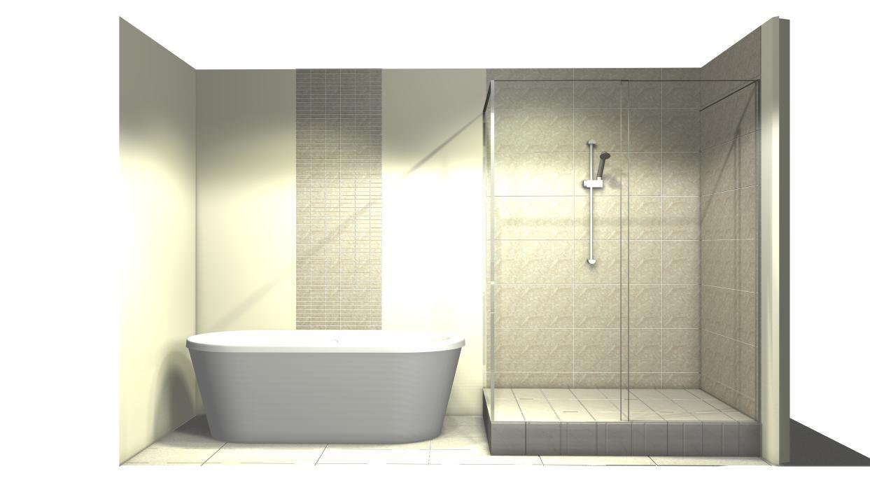 0100 am nagement salle de bains style contemporain bain autoportant douche et design mural. Black Bedroom Furniture Sets. Home Design Ideas