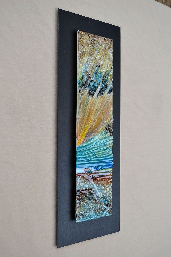 This Is Made To Order This Fused Glass Piece Measures 5 By 19 And