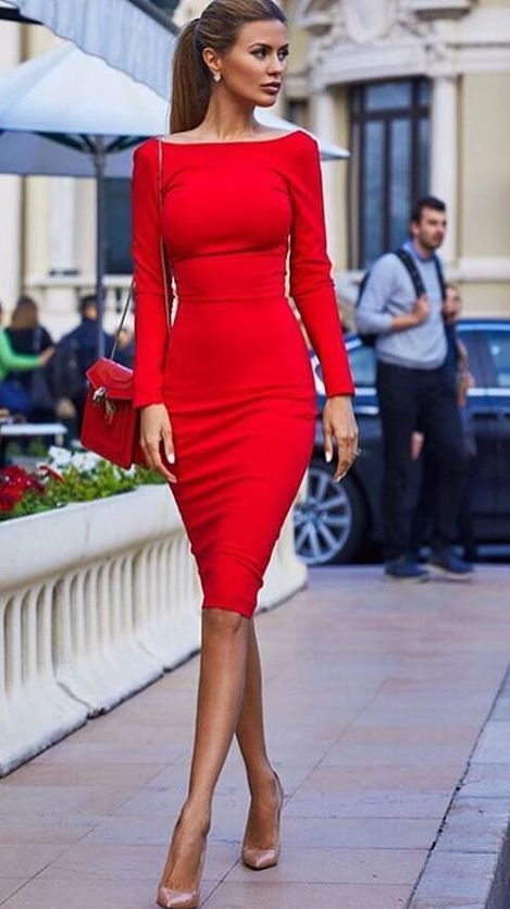 Elegant red dress my style clothing style