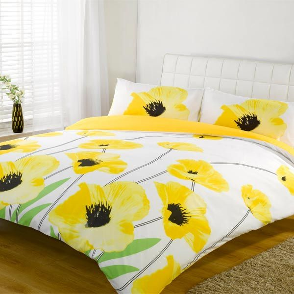 Yellow And White Duvet Cover