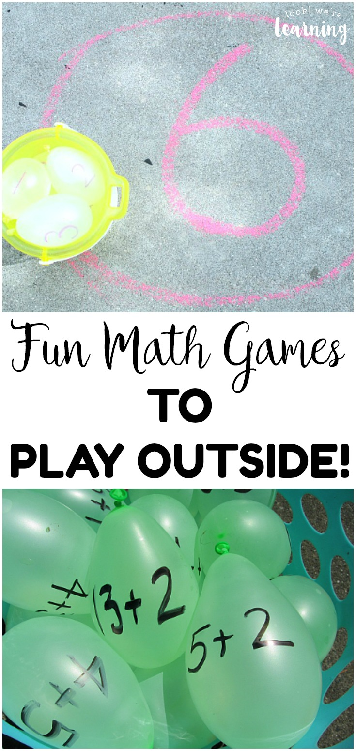 Easy and Fun Outdoor Math Games for Kids - Look! We're Learning!