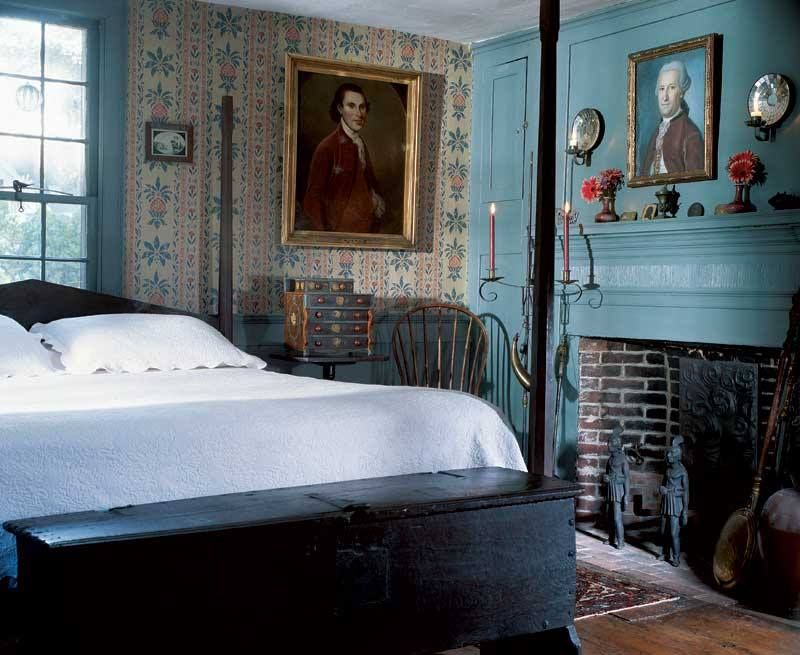 early home bedroom...love the blue