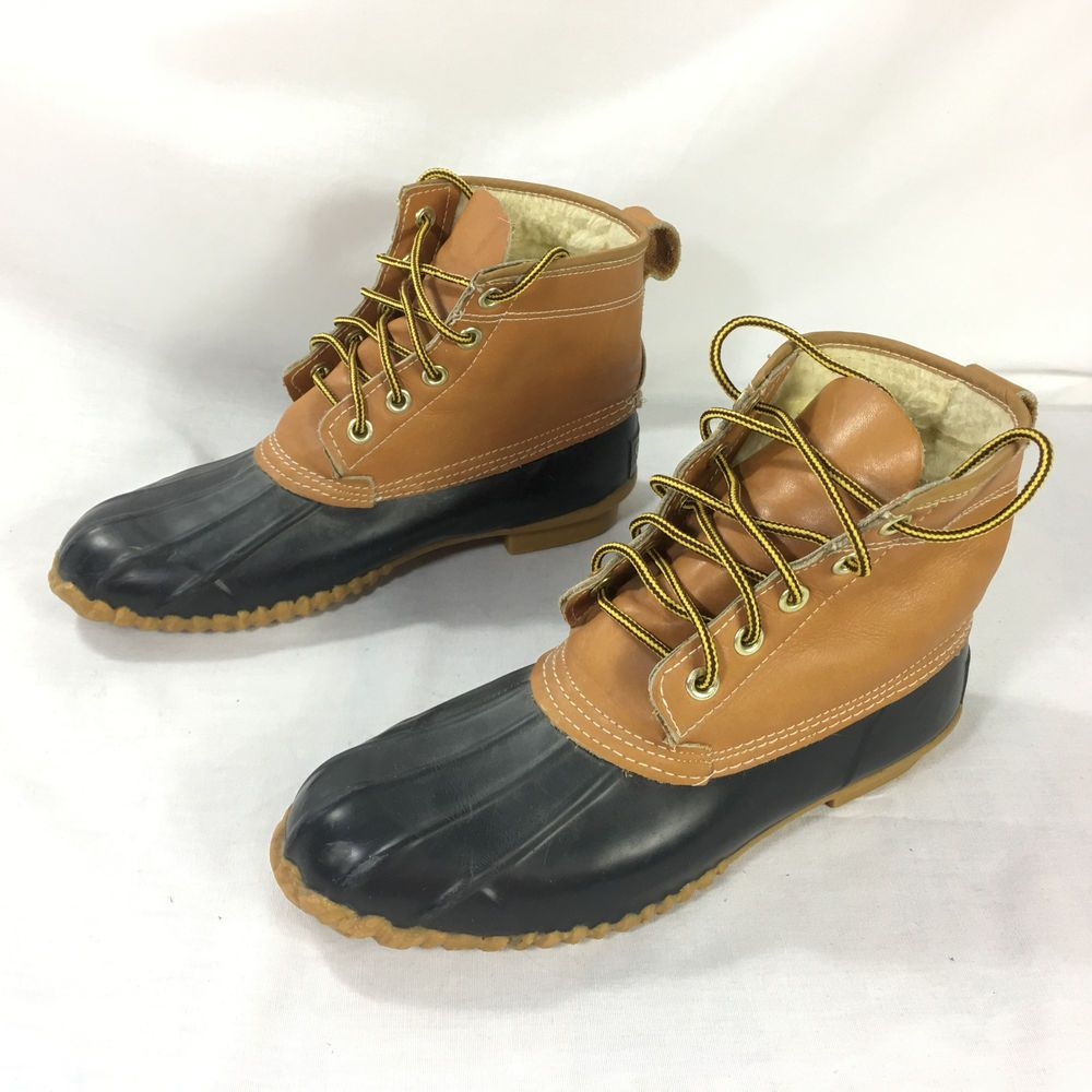 Sporto Duck Boots Women Size 6 N Insulated Brown Black