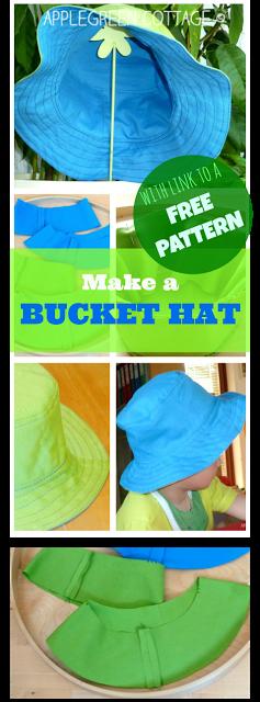 Tutorial: A Cute Bucket Hat   Nähen, Mütze und Nähen für kinder