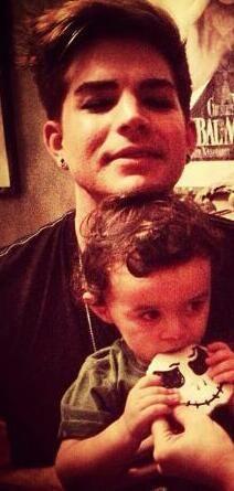 Adam Lambert and Riff Cherry   Source: unknown