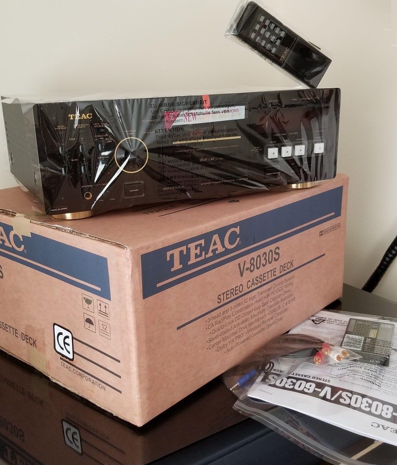 NEW TEAC KING V-8030S AMORPHOUS 3 x HEAD 4x MOTOR Cassette Deck TAPE
