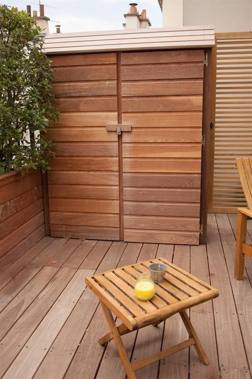 Terrasse En Bois Avec Rangement Pour Outils Rangement Terrasse Terrasse Bois Deco Balcon