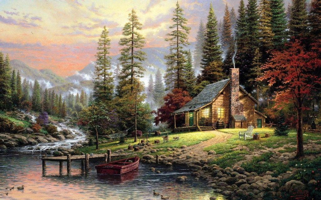 Lukisan Pemandangan Alam Yang Menakjubkan Pemandangan Lanskap Impresionisme