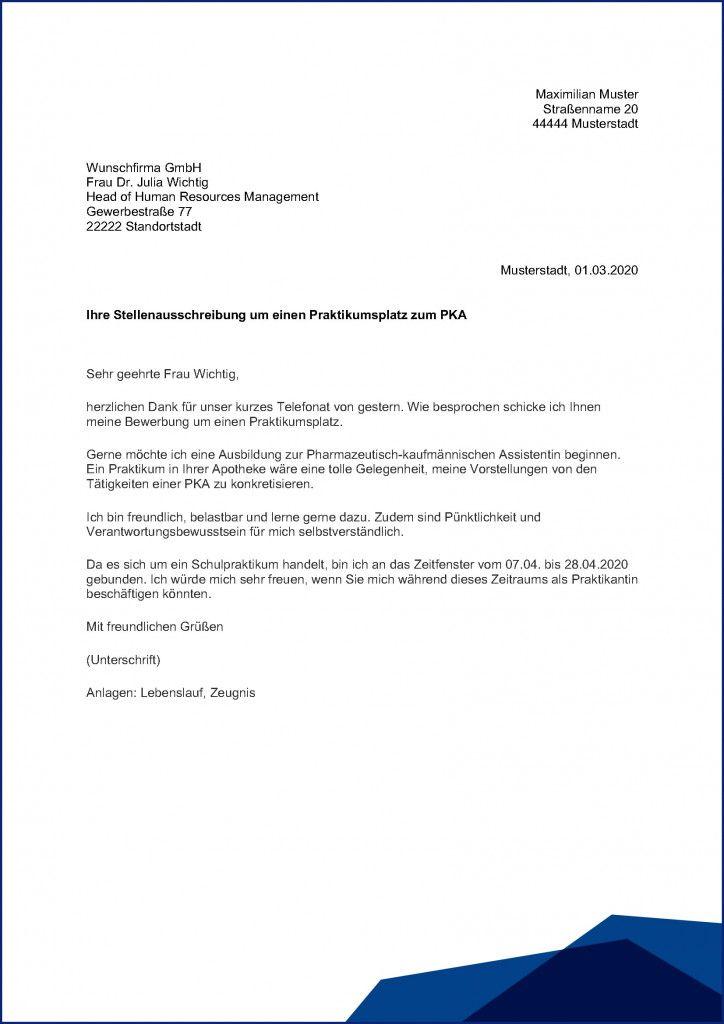 Bewerbungsschreiben Praktikum Vorlage Osterreich 2021 Standard Cv Format Pie Chart