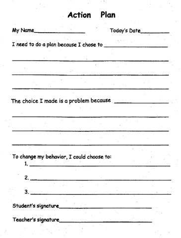 Pbis Action Plan Template Ed  Behavior Management Plan