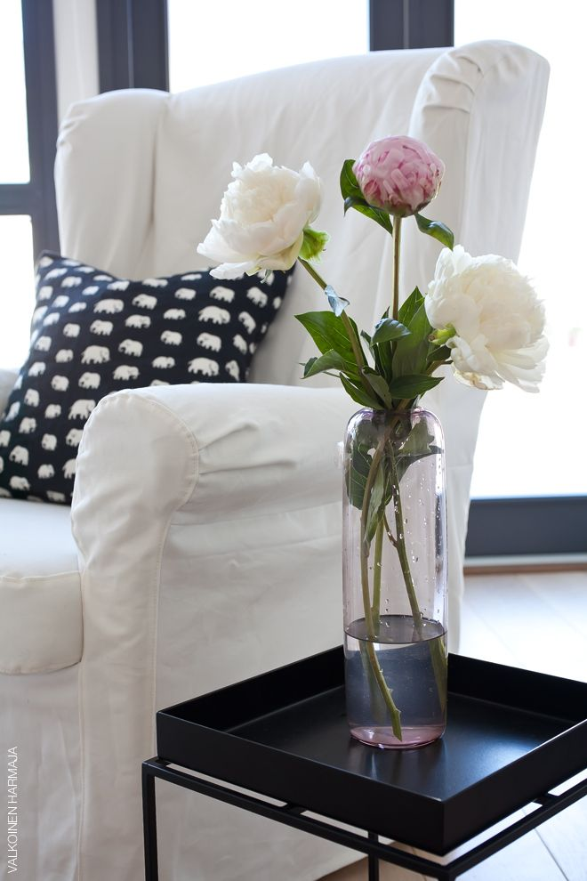 Lovely peonies, and a cute elephant pillow!