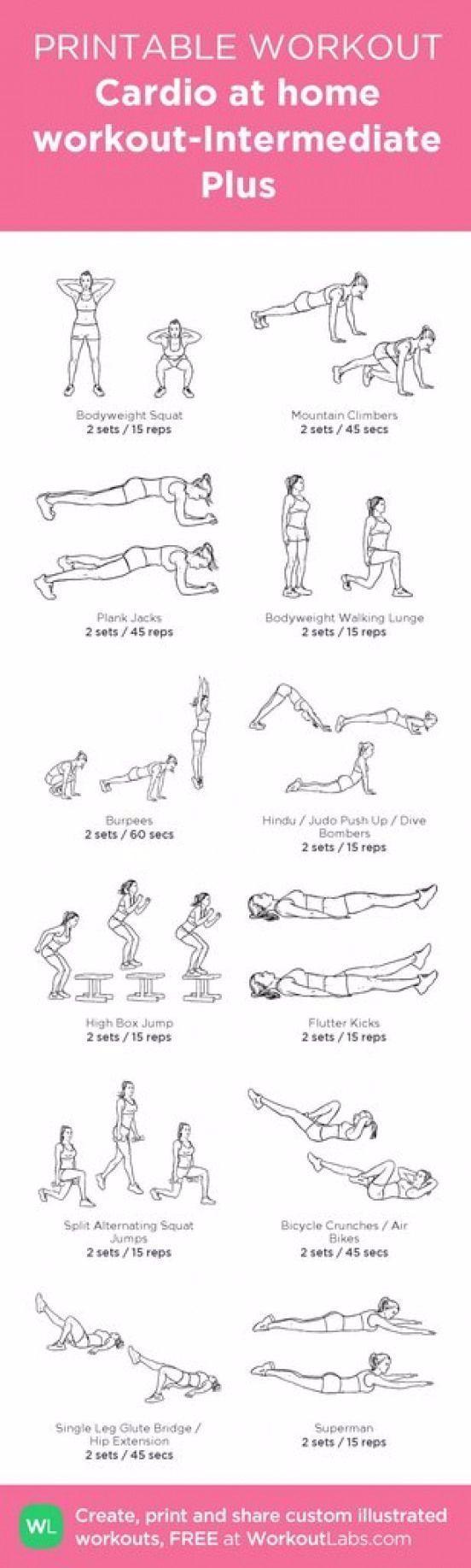 #Aerobic #aerobicexercises #bestes workout für zuhause #fitness #Pinterest #POPSUGAR #Posters #worko...