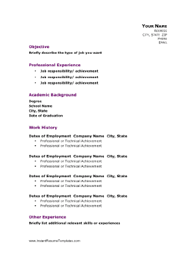 Academic Resume Template This Resume Template Balances The Need To Showcase Both Academic