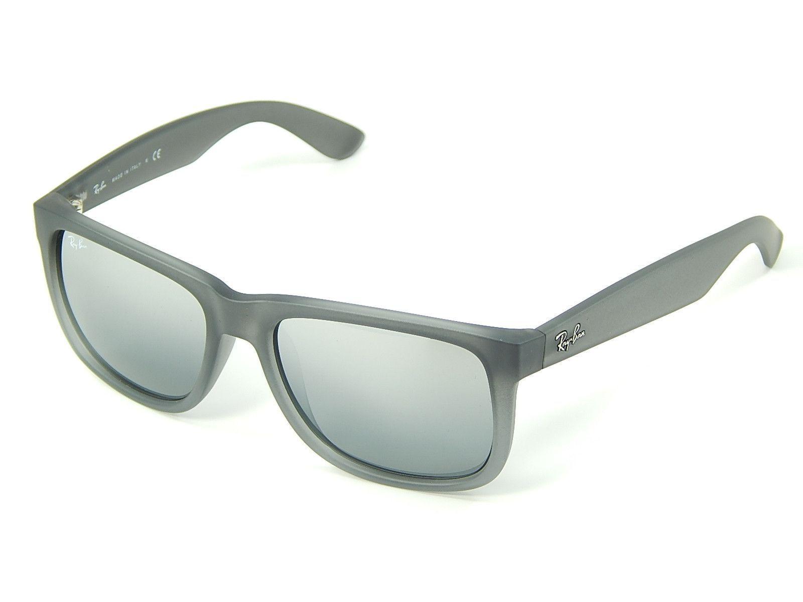 e832f2b161 Ray Ban Justin RB4165 852 88 Grey  Silver Gradient Mirror 51mm Sunglasses