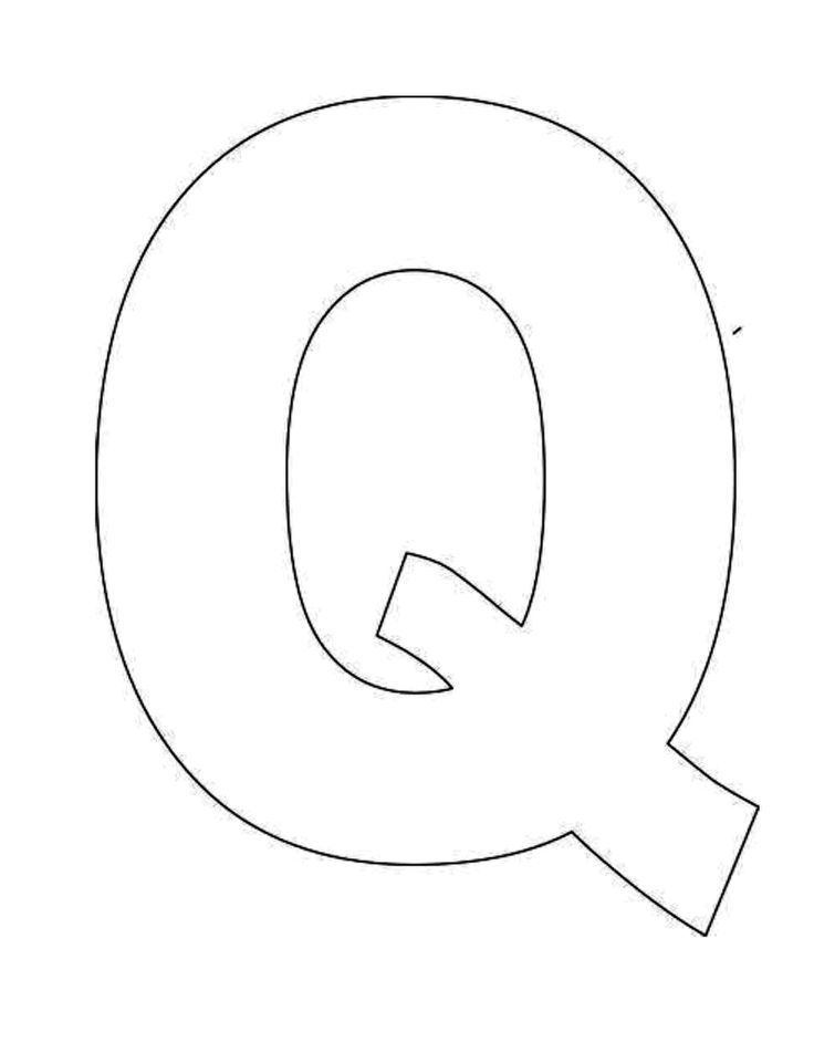 photograph about Letter Q Printable titled Printable Letter Q Template! Alphabet Letter Q Templates are