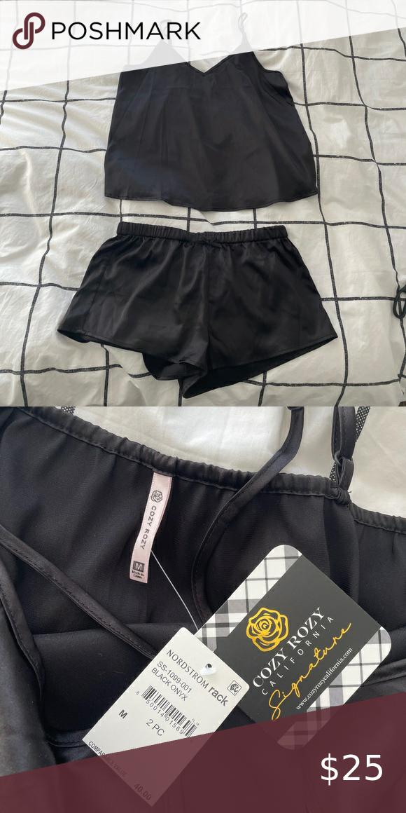 Sexy cute 2 piece silk pajama set 💃