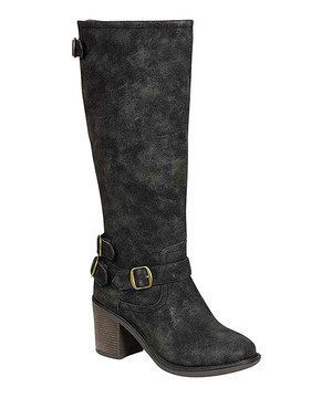 Love this Black Georgia Boot by Bamboo on #zulily! #zulilyfinds