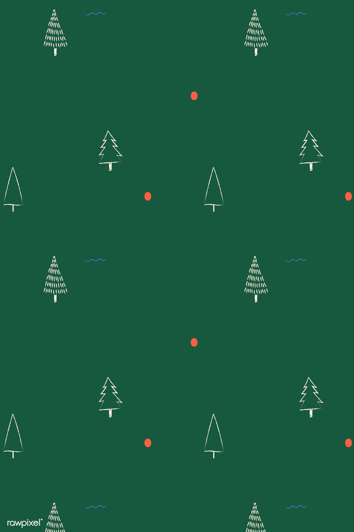 Download Premium Vector Of Christmas Elements Seamless Pattern Vector Christmas Phone Wallpaper Christmas Wallpaper Wallpaper Iphone Christmas