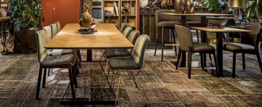 CLIVE, ESSTISCH HOLZ METALL PAKETT Tisch mit Parkett, Esstisch Eiche - esstische aus massivholz ideen