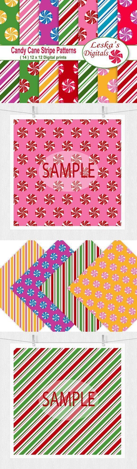 Christmas Digital Paper - Candy Cane. Christmas Patterns #candycanewreath Christmas Digital Paper - Candy Cane. Christmas Patterns, #candy #cane #Christmas #Digital #Paper #Patterns