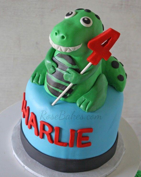 Dinosaur Birthday Cake Wilton: Dinosaur Party: T-Rex Cake And Cupcake Tower