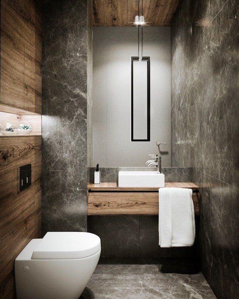Concreto E Madeira Concrete Wood Bath Bathroom Decor
