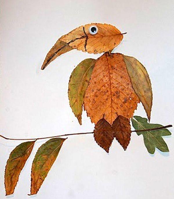 Поделки из листьев или природного материала 14