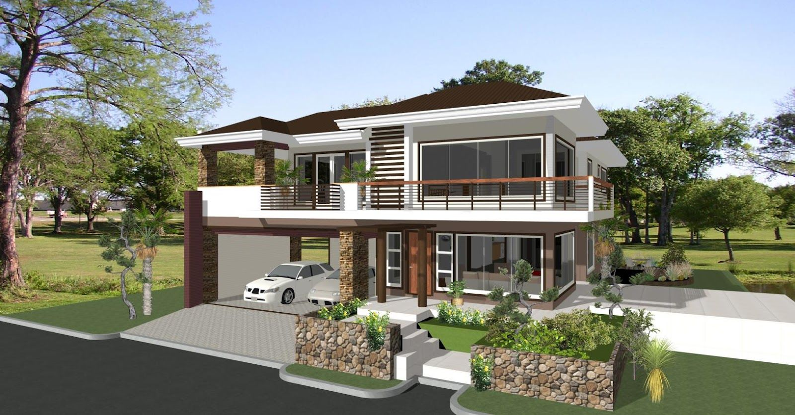 british west indies house plans | print elevation | view larger