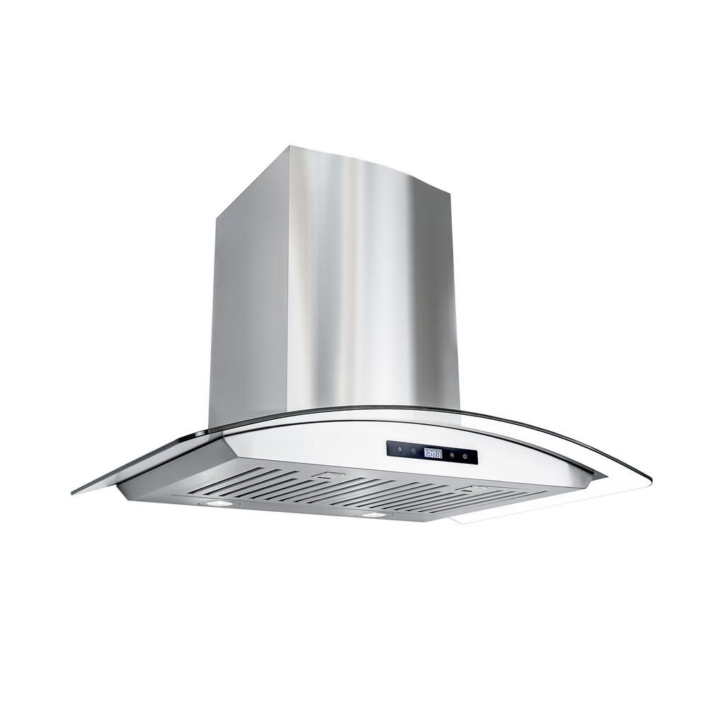 Cosmo 30 In Ducted Wall Mount Range Hood In Stainless Steel With