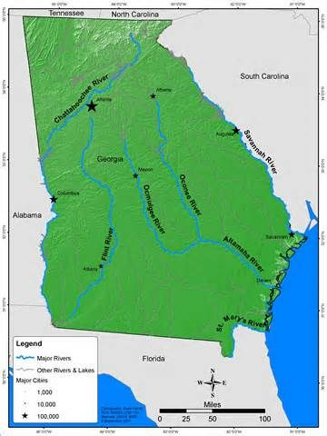 Georgia Map For Kids.Georgia Map With Rivers Bing Images Kids