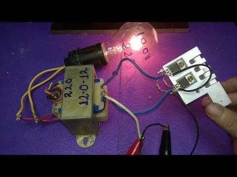 Make inverter 12v to 220v 200W, Simple circuit diagram, ( use 12 0