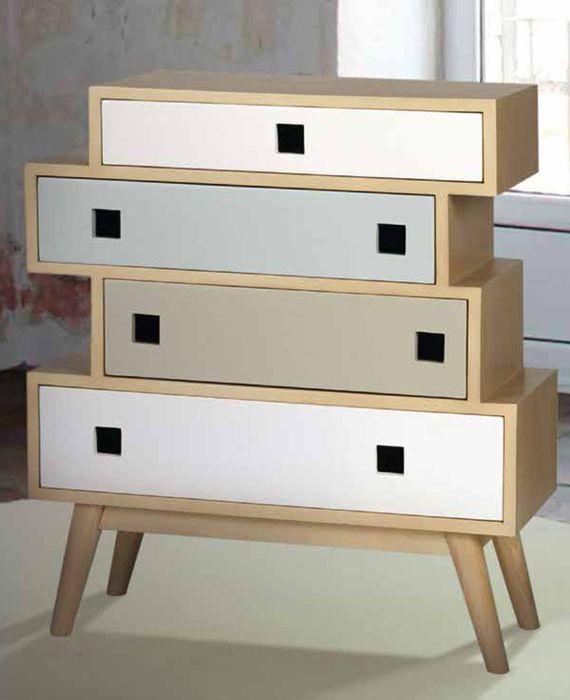 Muebles estilo nordico finest nuestro saln decoracion - Sinfonier blanco conforama ...