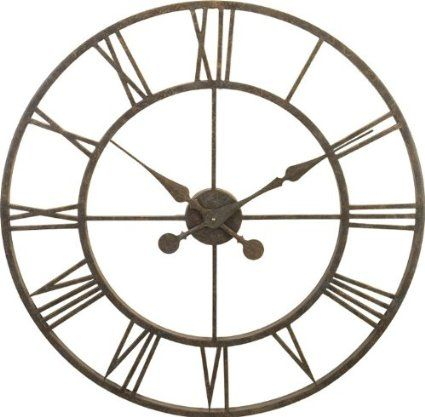 River City Clocks Indoor Metal Skeleton Tower Wall Clock 30 Inch Diameter Model L28 30 Large Wall Clock Oversized Wall Clock