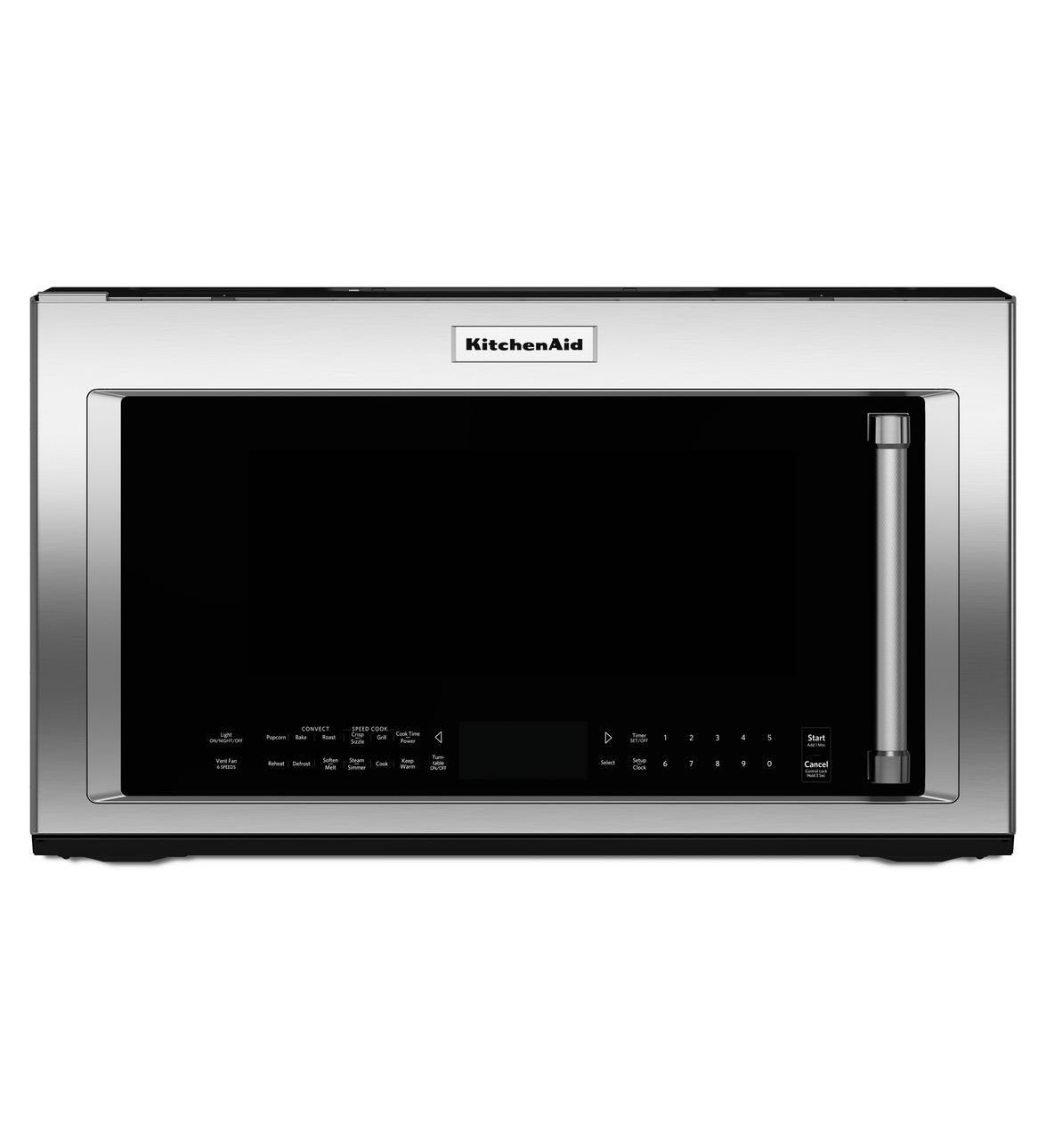 Stainless steel 1200watt convection microwave with high